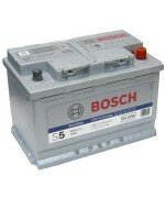 Аккумулятор Bosch S5  Silver Plus 0092S50080  ПРАВЫЙ [+] 12V 77AH 780A 278*175*190